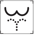 Image of ISO symbol for bathroom with bidet