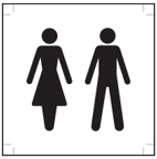 Image of ISO symbol for bathroom that is unisex