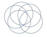 Picture of circles overlapping each other