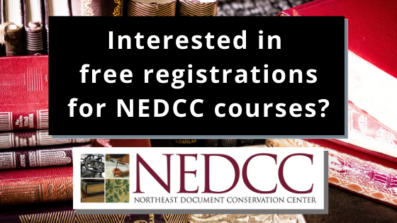 Did you know that through WNYLRC you can get a free seat for NEDCC courses? Learn more!