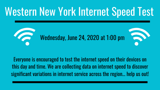 Join us to collect data about variations in internet service throughout the Western New York Region!
