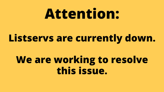 Attention: WNYLRC listservs are currently down. We are working to resolve this issue.