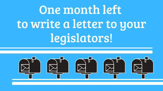 One month left for letterwriting!